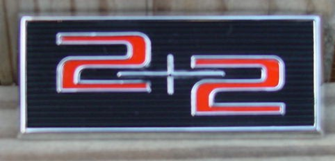 2 plus 2 Door Panel emblem 64 Grand Prix Bonnevill