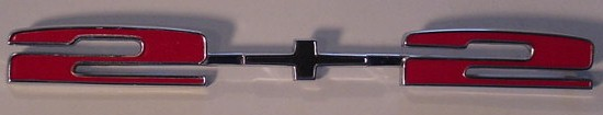 67 Pontiac Grand Prix 2+2 Qtr emblem NEW