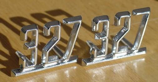 NEW 327 emblems 64 65 66 67 Camaro Nova Impala