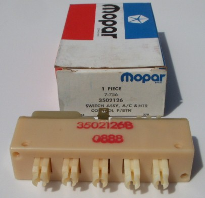 Mopar NOS A/C Vacuum Switch 66 - 73