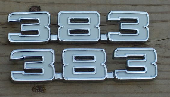 383 Stroker emblems Camaro Chevelle 70 71 72 73 74 C383-70-4