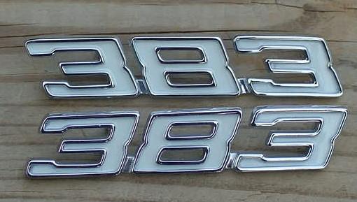 383 Stroker emblems 70 71 72 73 74 Camaro Chevelle