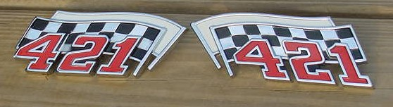 62 63 64 Grand Prix Bonneville 421 emblems NEW