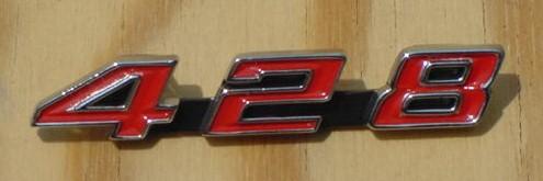 NEW 67 68 428 Console &Rad emblem Grand Prix Bonne