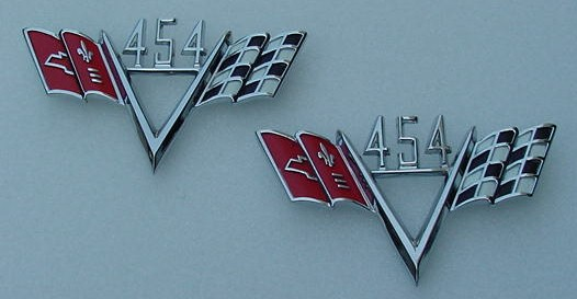 454 Stroker FLAG emblems Impala Corvette Chevelle