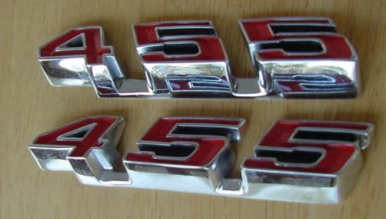 GTO / LeMans Rocker emblems 68 69 70 71 72 455 NEW