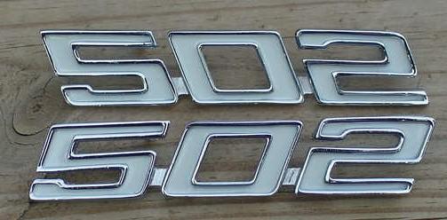 502 Stroker emblems 70 71 72 73 74 Camaro Chevelle