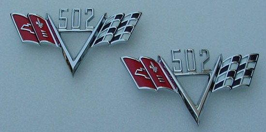 502 Stroker FLAG emblems Impala Corvette Chevelle