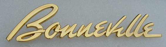 58 Bonneville gold fender emblem NEW