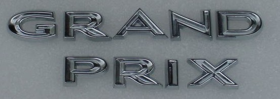 63 Grand Prix Fender Letters NEW