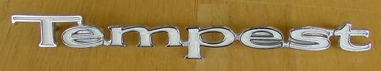 67 68 69 Tempest fender emblem NEW