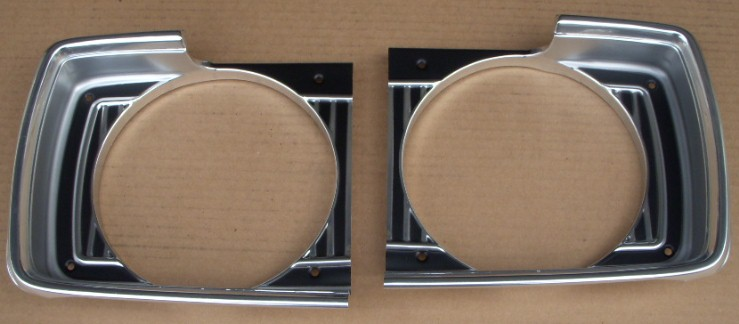 67 Dodge Dart Headlight Bezels NEW PAIR