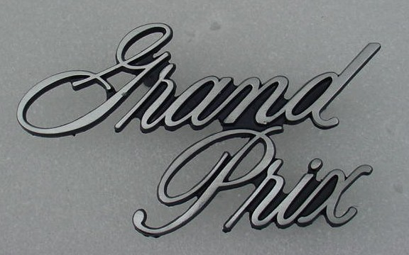 71 72 Grand Prix Header Panel emblem NEW