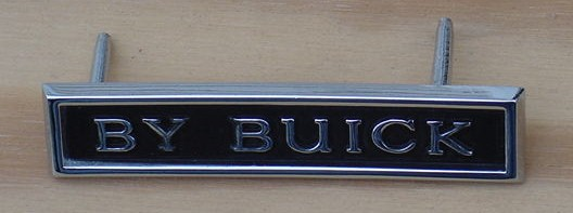 BUICK NEW 71 GS By Buick Trunk emblem Skylark