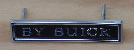 BUICK NEW 71 GS By Buick Trunk emblem Skylark