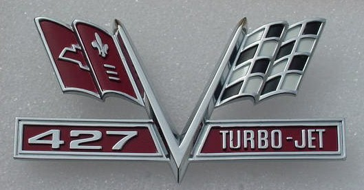 66 67 Impala Caprice 427 Turbo Jet emblem NEW