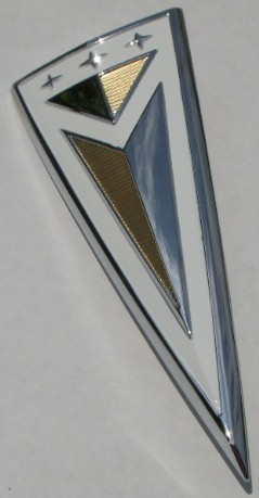 63 Pontiac Trunk emblem Bonneville Catalina