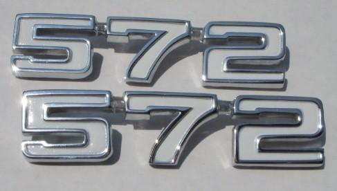 572 Chevy Big Block emblems 69 70 71 72 73 74