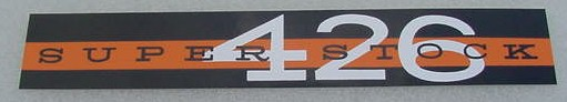63 64 Plymouth SUPER STOCK 426 V/C DECAL NEW