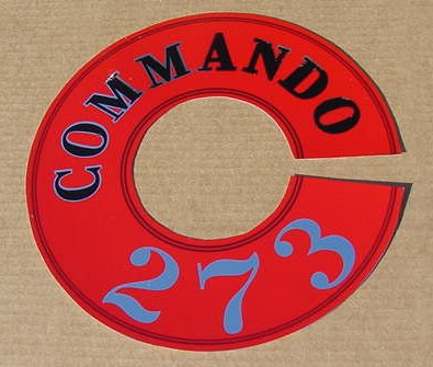 64 65 66 67 Valiant Cuda 273 Commando A/C DECAL