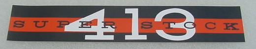 62 Plymouth SUPER STOCK 413 V/C DECAL NEW