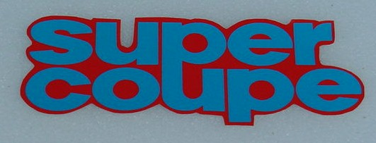 78 Aspen Super Coupe Decal red/blue