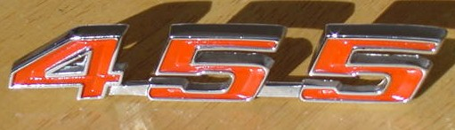 67 68 69 Firebird 455 Decklid Emblem NEW
