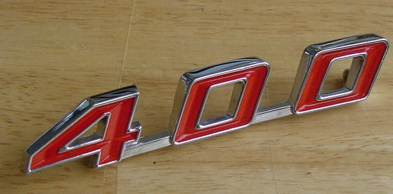 67 68 69 Firebird 400 Decklid Emblem NEW