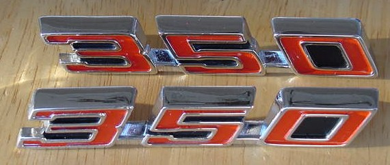 67 68 69 Firebird 350 Hood Emblems NEW PAIR
