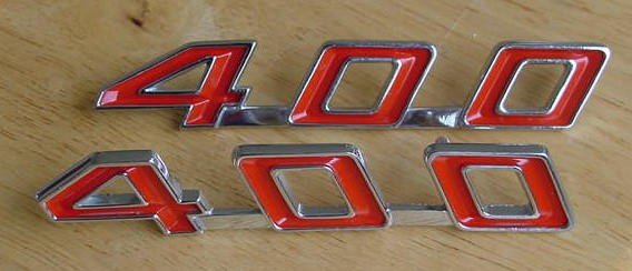 67 68 69 Firebird 400 Hood Emblems NEW pair