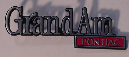 73 74 75 Pontiac Grand AM Trunk emblem NEW