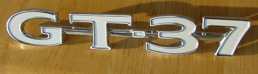 71 Lemans GT37 trunk emblem NEW