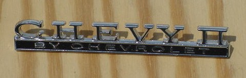 NEW 68 Nova Chevy II 2 Trunk emblem