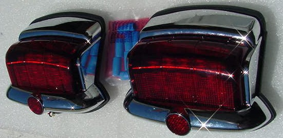 P15 NEW LED Tail lights PAIR Plymouth 46 47 48 P-1