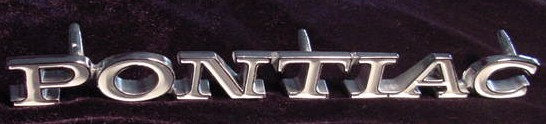 71 Lemans PONTIAC fender emblem NEW