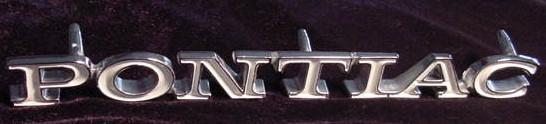 71 Lemans PONTIAC fender emblem NEW