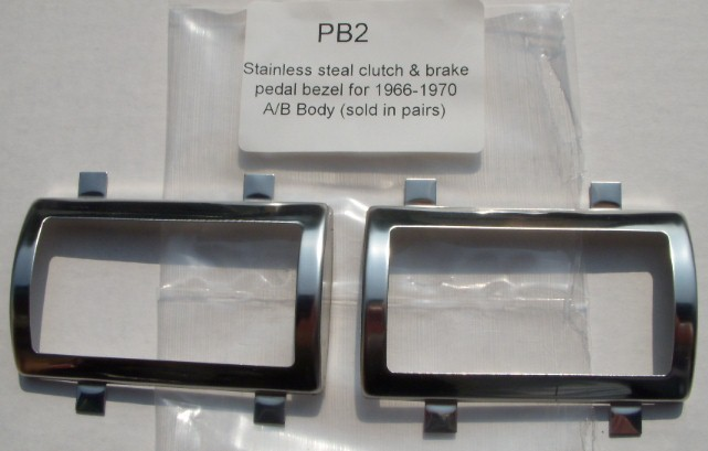 Brake Clutch Pedal Bezels 66-70 B / 66-72 A BODY