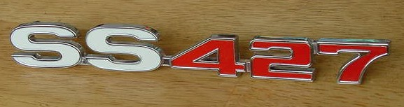 NEW Chevy 68 SS427 Impala Caprice trunk emblem