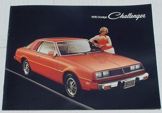 Mopar 1978 Dodge Challenger Dealer Brochure 78   eBay